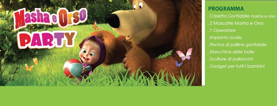 Festa a Tema Masha e Orso – Animazione per bambini piccoli
